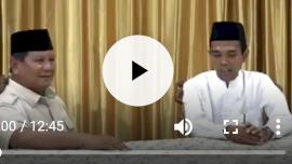 Prabowo Teteskan Air Mata Dihadapan Ustad Somad