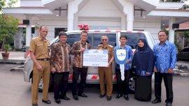PT Taspen dan Wuling Makassar Hibahkan 2 Ambulans ke Pemkab Gowa