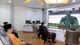 Bupati Adnan Ikut Rapat Koordinasi Penanganan Covid-19 Bersama Kapolri dan Panglima TNI