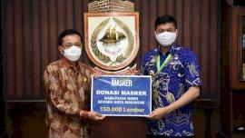 Bupati Adnan Donasi 150 Ribu Masker ke Pemkot Makassar