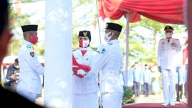 Hanya 10 Orang Pengibar Bendera di HUT Kemerdekaan RI di Gowa
