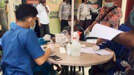 Cegah Penyebaran Covid-19 Antar Tahanan, Polres Gowa Gelar Rapid Test 27 Tahanan