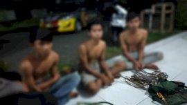 Diduga Curi Kabel Tembaga Di Gardu PLN, 3 Remaja Diringkus Polisi