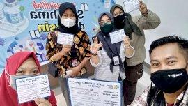 Vaksinasi Tahap II di Gowa, Jurnalis Ikut Divaksin