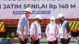 Mentan, Mendag dan Menteri BUMN Lepas Ekspor Produk Pertanian Jatim Senilai Rp140 M