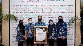 SMSI Sulsel Anugerahi Bupati Adnan sebagai Kepala Daerah Peduli Pers