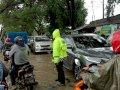 Macet di Dua Lokasi Banjir, Bhabinkamtibmas Turun Tangan