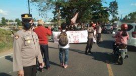 Anggota Gerak Misi Diamankan saat Demo Kantor Polsek Bajeng