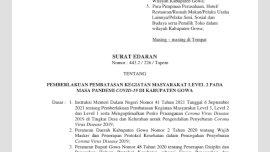 Turun Level Dua, Pemkab Gowa Masih Perpanjang PPKM