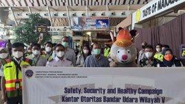 Otoritas Bandara Gelar Safety Campaign di Bandara Internasional Sulhas